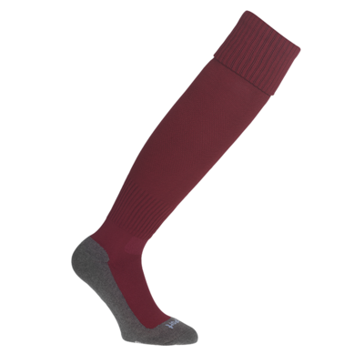 Team Pro Essential Kous met voet - burgundy