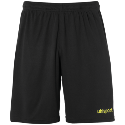 Center Basic Shorts - Zwart/fluo geel
