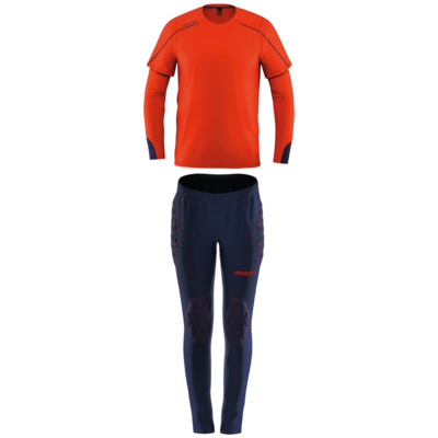 Stream 22 Goalkeeper Set Junior - Fluo rood/marine