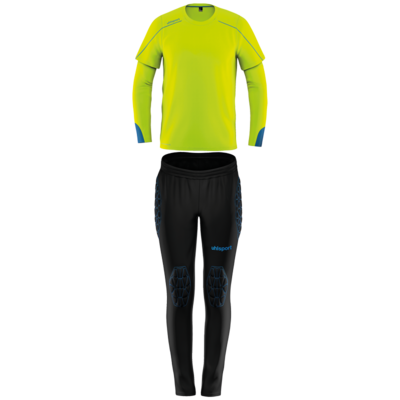 Stream 22 Goalkeeper Set Junior - Fluo geel/radar blauw