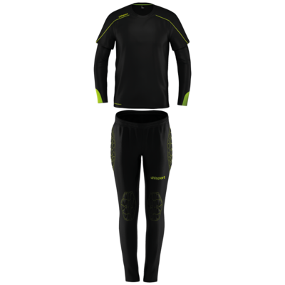 Stream 22 Goalkeeper Set Junior - Zwart/fluo geel